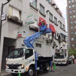 現場施工 インクジェット出力物制作物の施工も行っております。